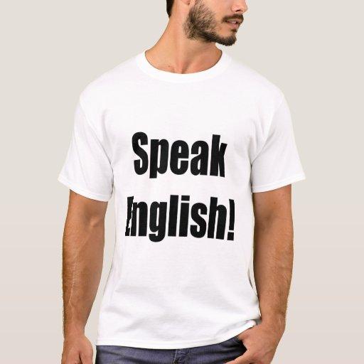 Hable inglés playera