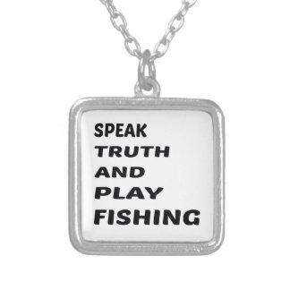 Hable la pesca de la verdad y del juego colgante cuadrado