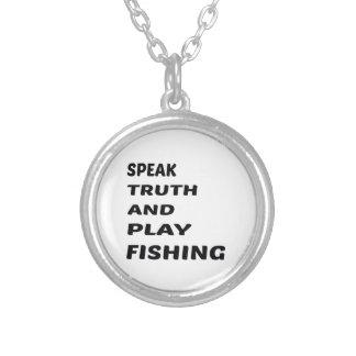 Hable la pesca de la verdad y del juego colgante redondo