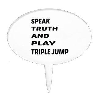 Hable la triple salto de la verdad y del juego figuras para tartas