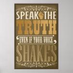 Hable la verdad poster
