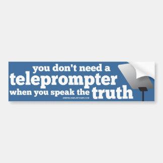 Hable la verdad y usted no necesita un tablero tel pegatina para auto