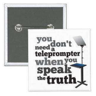 Hable la verdad y usted no necesita un tablero tel pin cuadrada 5 cm