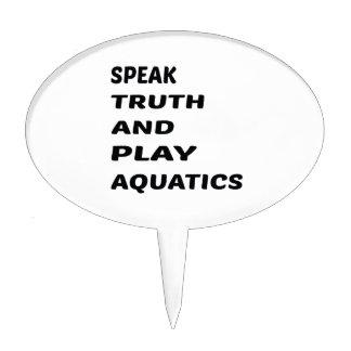 Hable los Aquatics. de la verdad y del juego Palillos De Tarta