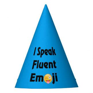 Hable los gorras del fiesta de Emoji