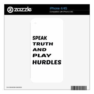 Hable los obstáculos de la verdad y del juego skins para iPhone 4S