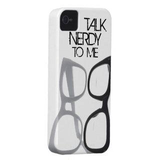 Hable nerdy conmigo el caso del iPhone 4S 4 del iPhone 4 Case-Mate Carcasa