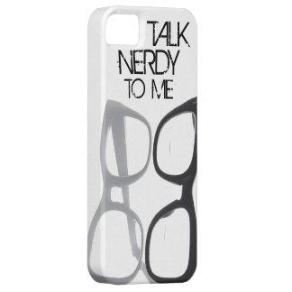 Hable nerdy conmigo el caso del iPhone 5S 4 del em iPhone 5 Cárcasa
