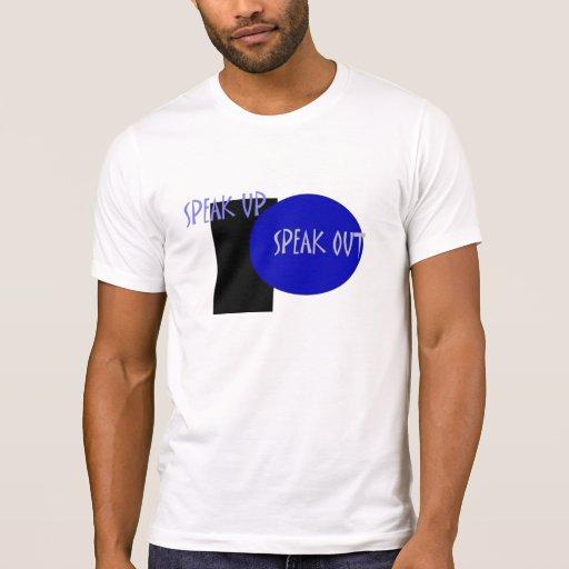 Hable para arriba hablan hacia fuera la camiseta - camisas