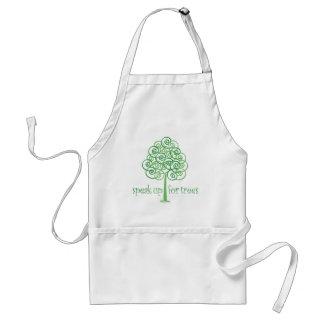 Hable para arriba para los árboles - árbol Hugger Delantal