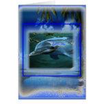 Hable Thy garganta Chakra del delfín de la paz Tarjeta De Felicitación