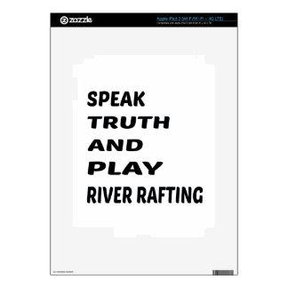 Hable transportar en balsa de río de la verdad y iPad 3 pegatina skin
