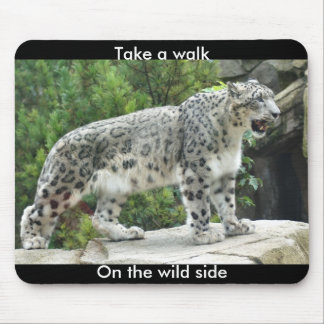 Hable un paseo en el cojín de ratón lateral salvaj mouse pad
