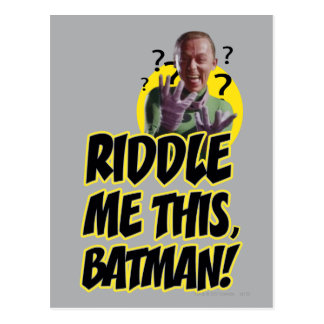 Hábleme enigmáticamente este Batman Postales