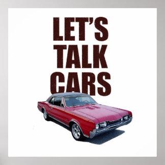 Hablemos el cartel de los coches 442 póster