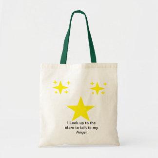 Hablo con las estrellas bolsa lienzo