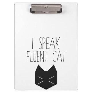 Hablo el gato fluido - cita divertida