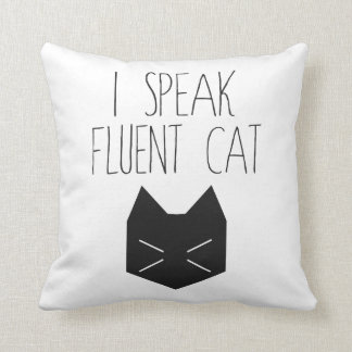 Hablo el gato fluido - cita divertida almohada
