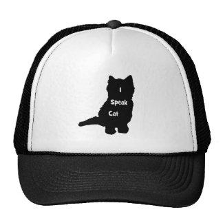 Hablo el gato gorros bordados