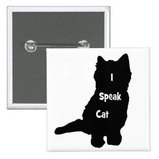 Hablo el gato pin cuadrado