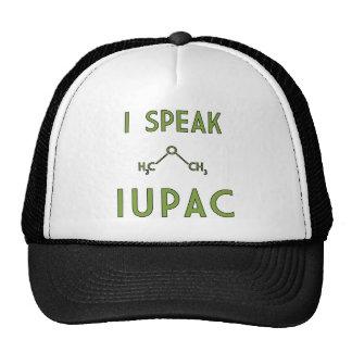 Hablo el gorra del camionero de IUPAC