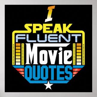 Hablo el poster fluido de las citas de la película