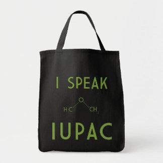 Hablo el tote del ultramarinos de IUPAC Bolsa Tela Para La Compra