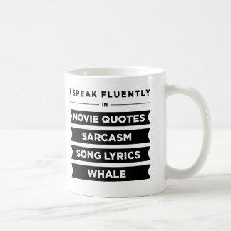 Hablo fluido adentro taza clásica