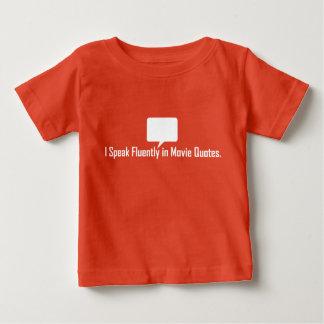 Hablo fluido en camiseta de las citas de la