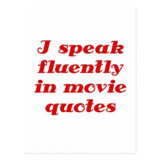 Hablo fluido en citas de la película tarjetas postales