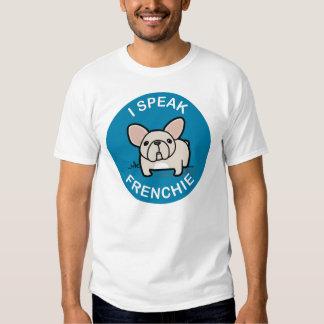 Hablo Frenchie - azul Polera