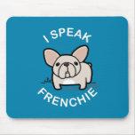 Hablo Frenchie - azul Tapete De Ratones