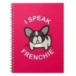 Hablo Frenchie - rosa Libros De Apuntes