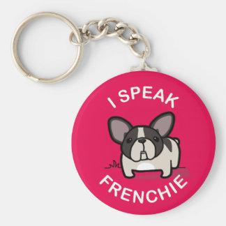 Hablo Frenchie - rosa Llaveros Personalizados