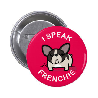 Hablo Frenchie - rosa Pins