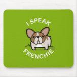Hablo Frenchie - verde Alfombrillas De Ratones
