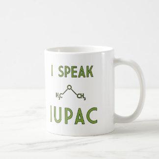 Hablo IUPAC Taza Básica Blanca