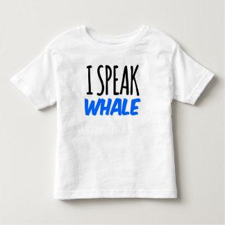 Hablo la camiseta del niño de la ballena remera