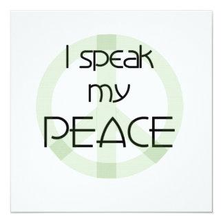 Hablo mis camisetas y regalos de la paz comunicados personalizados