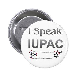 Hablo nomenclatura de la química de IUPAC Pin Redondo De 2 Pulgadas