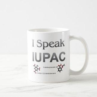 Hablo nomenclatura de la química de IUPAC Tazas