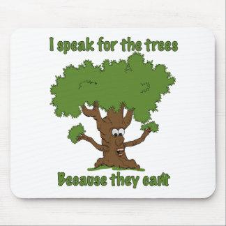 Hablo para los árboles alfombrillas de ratón
