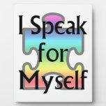 Hablo por mí mismo placas con fotos