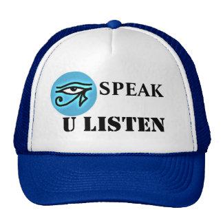 Hablo U escucho gorra