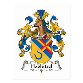 Hablutzel Family Crest Postcard