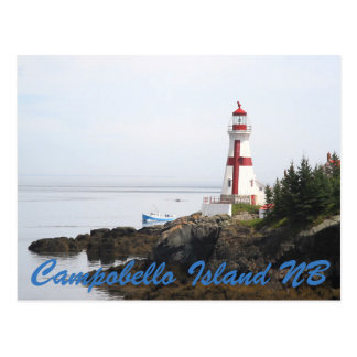 Habor Lightstation Campobello Island New Bronswick Postcard
