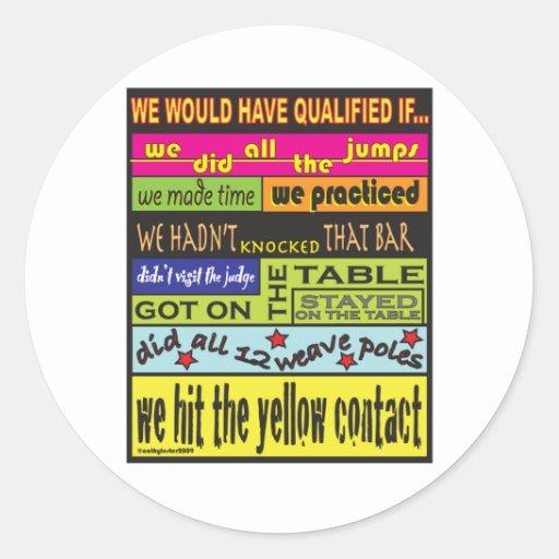 Habríamos calificado…. etiqueta redonda