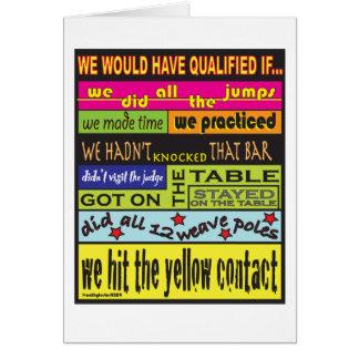 Habríamos calificado…. tarjeta de felicitación