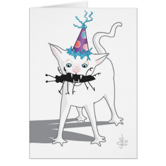 """Hacchhy Ngircchhgay""... Birthday Card (on white)"