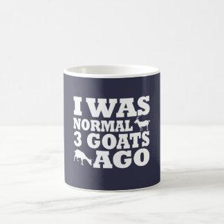Hace 3 cabras normales taza de café